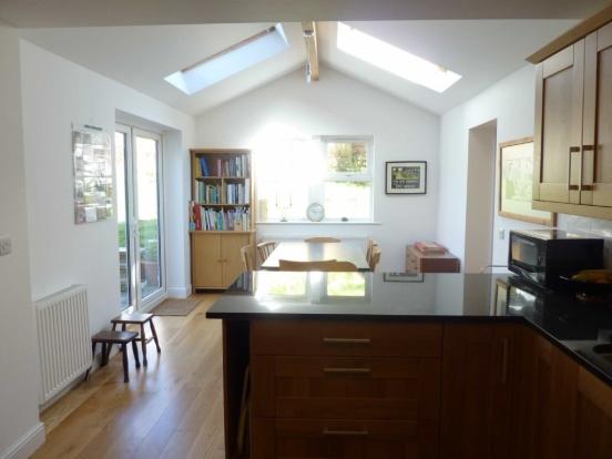 Velux windows light rooms kitchen extension